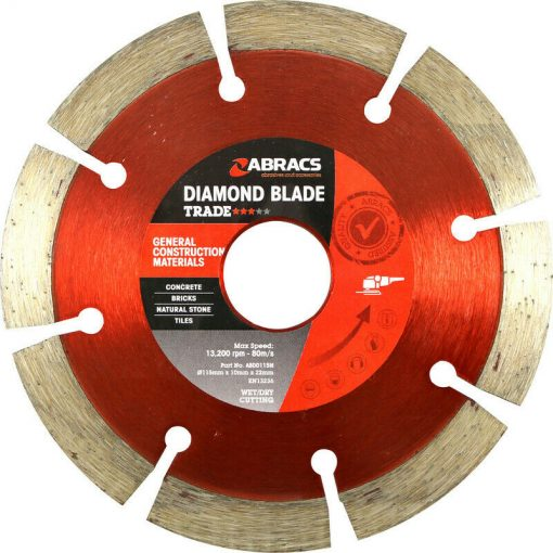 Abracs Diamond Blade 115mm x 10mm x 22mm GCM