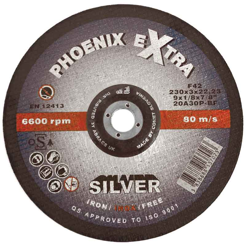 "ABRACS PROFLEX ANGLE GRINDER THIN METAL CUTTING DISCS 230mm 9/"" x 5"