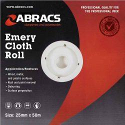 Abracs Emery Roll 25mm x 50M x 100 Grit