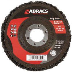 Abracs Poly Abrasive Disc 115mm x 22mm Black