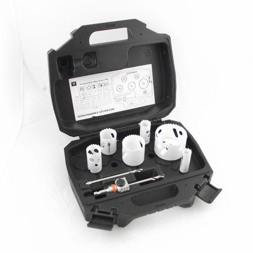8 Piece electrician hole saw kit